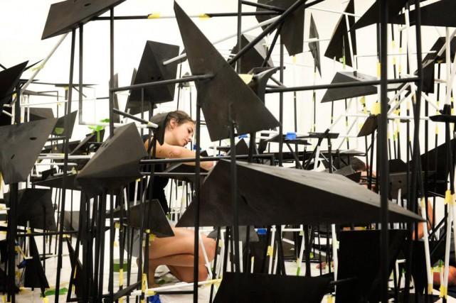 Pièce centrale d'Astérismes, la nouvelle exposition de Nicolas... (Photo Bernard Brault, La Presse)