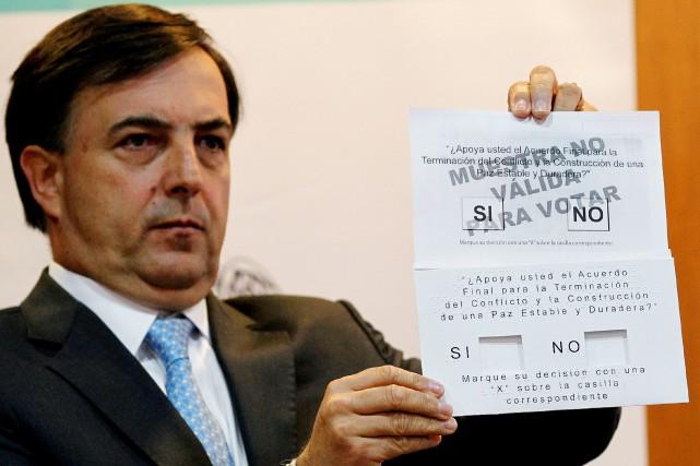 Juan Galindo, l'homme à la tête du Registre... (PHOTO Felipe Caicedo, REUTERS)