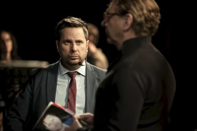 Stéphane E. Roy et Marc Labrèche.... (Écho média)