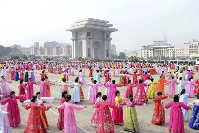 Pendant que la Corée du Nord effectuait un... (AFP)