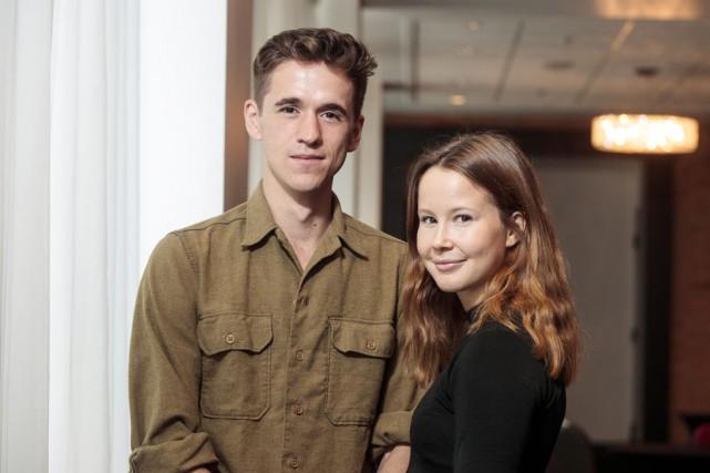 Émile Schneider et Juliette Gosselin en pleine promotion... (La Presse)