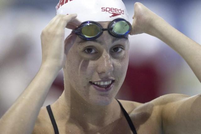 Aurélie Rivard a établi un nouveau record au... (Chris Young, La Presse canadienne)
