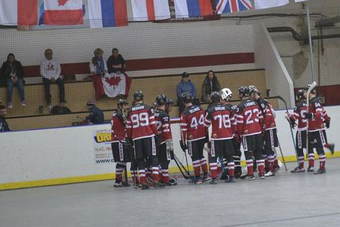 L'an dernier, en Slovaquie, le Canada est devenu... (photo tirée du site World Ball Hockey Federation)