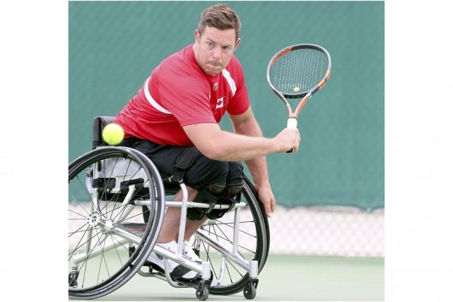 Le Bromontois Philippe Bédard s'est fait montrer la... (Fournie par l'Équipe canadienne paralympique)
