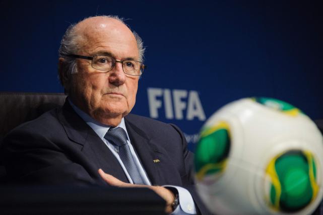 L'ex-président de la FIFA, JosephBlatter.... (Photo archives AFP)