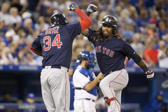 Les Red Sox se sont amusés au Rogers... (Peter Power, La Presse canadienne)