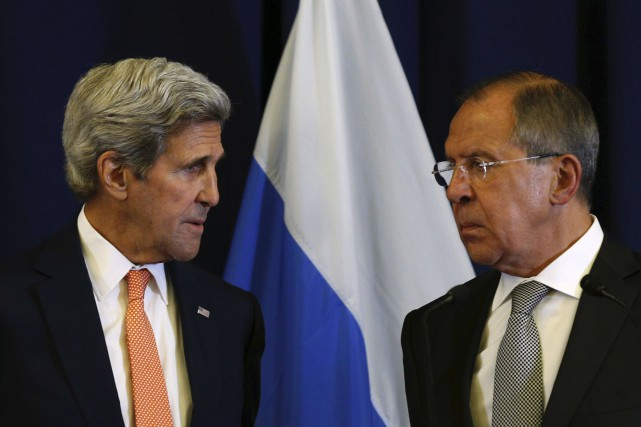 John Kerry et Sergueï Lavrov, respectivement chefs de la... (AFP)
