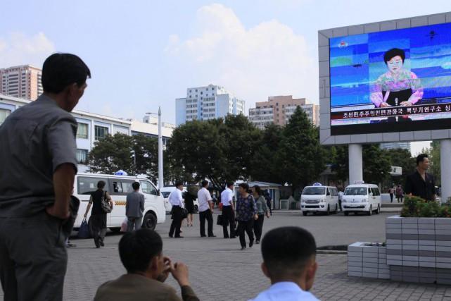 La puissance de la bombe testée vendredi a... (PHOTO Jon Chol Jin, AP)