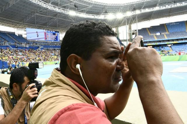 Joao Maia en plein travail... (AFP)