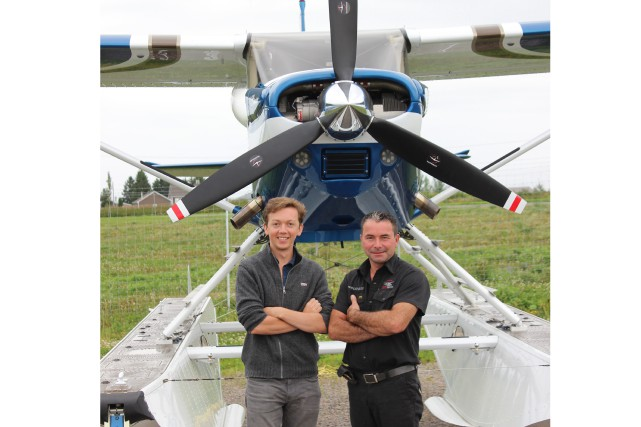 Antoine Queugnet et Carl Duguay... (Photo Le Progrès-Dimanche, Katerine Belley-Murray)