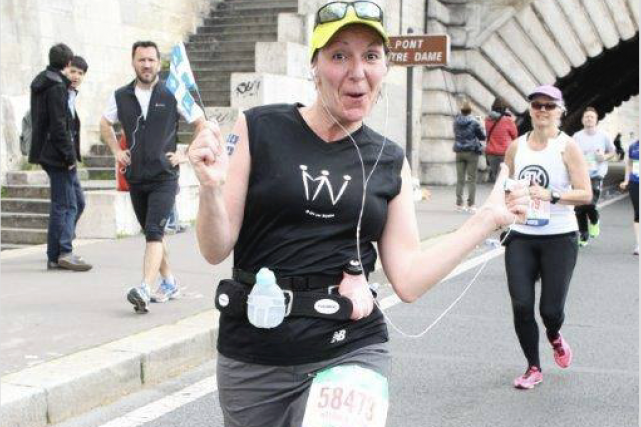 Pour ses 50 ans, Nathalie Bisson a couru... (Fournie par Nathalie Bisson)