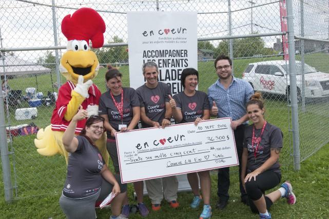 Les participants ont récolté quelque 36 500$ à... (Photo Le Progrès-Dimanche, Michel Tremblay)