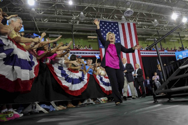 Hillary Clinton à Tampa... (AP)