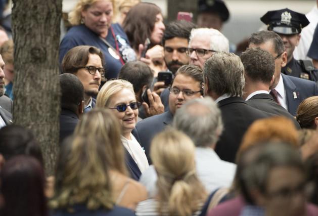 Hillary Clinton lors du rassemblement à Ground Zero.... (AFP)