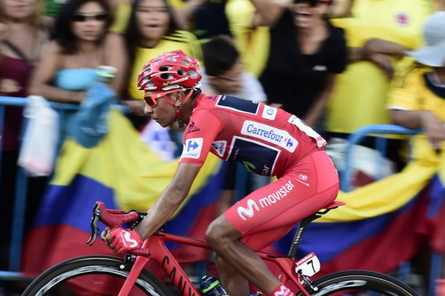Nairo Quintana... (PHOTO JOSE JORDAN, AFP)