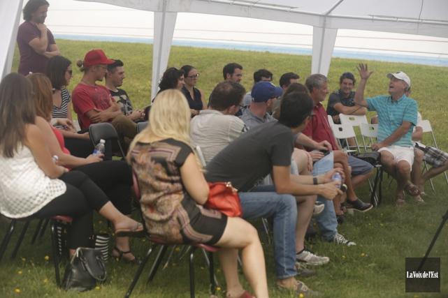 Une soixantaine d'entrepreneurs se sont amenés à Bromont.... (Catherine Trudeau, La Voix de l'Est)