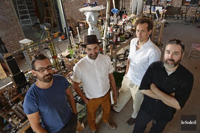 Philippe Lessard Drolet, Bruno Bouchard et Pascal Robitaille... (Le Soleil, Patrice Laroche)