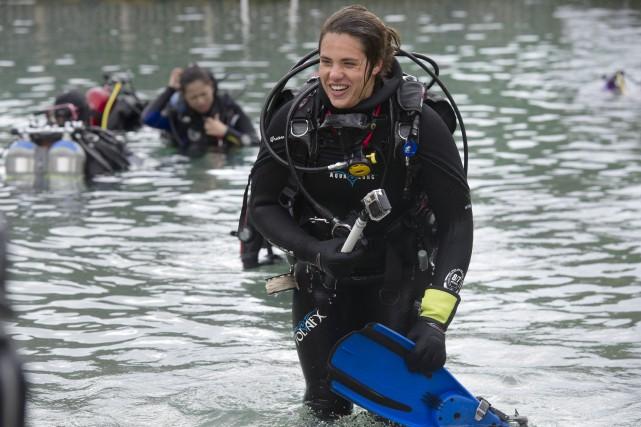Au total, 150 femmes ont plongé d'un seul... (Martin Roy, LeDroit)