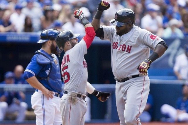 Le vétéran des Red Sox David Ortiz, à... (La Presse canadienne, Peter Power)