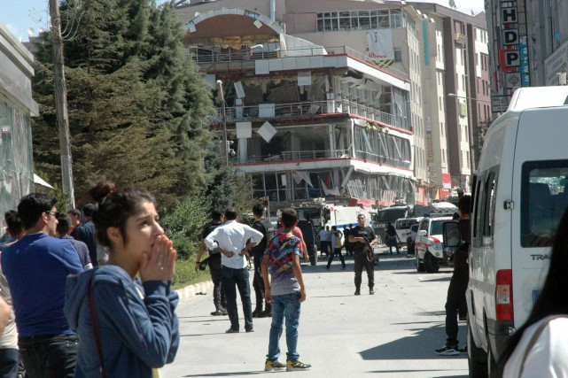 L'attaque est survenue dans le centre animé de... (AP)