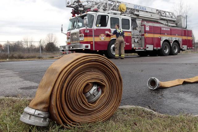 Les pompiers d'Ottawa ont été appelés sur la... (Etienne Ranger, LeDroit)