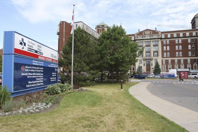 Le campus Civic de l'hôpital d'Ottawa est présentement... (Patrick Woodbury, LeDroit)