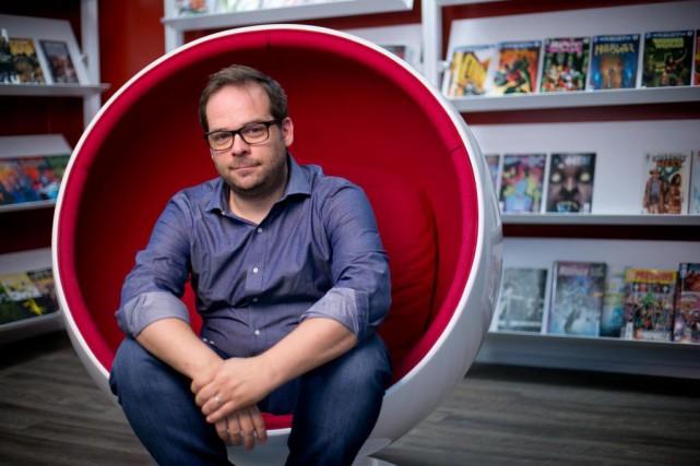 Le comédien Jean-Dominic Leduc a fondé la librairie... (PHOTO DAVID BOILY, LA PRESSE)