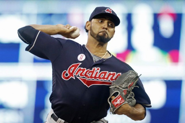 Danny Salazar... (PHOTO Jim Mone, AP)