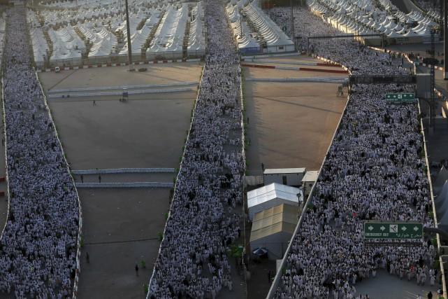 Environ deux millions de musulmans participant au grand... (AFP, Ahmad Gharabli)