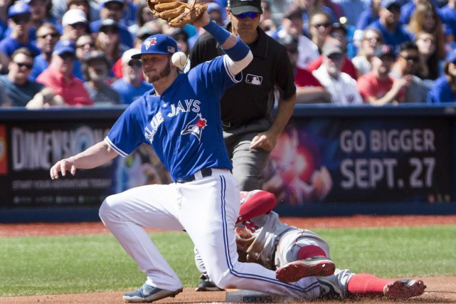 Josh Donaldson... (PHOTO Peter Power, PC)