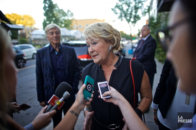 Pauline Marois assistait à une soirée en hommage... (La Presse, André Pichette)