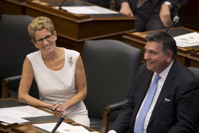 La première ministre de l'Ontario, Kathleen Wynne, en... (Peter Power, Archives PC)