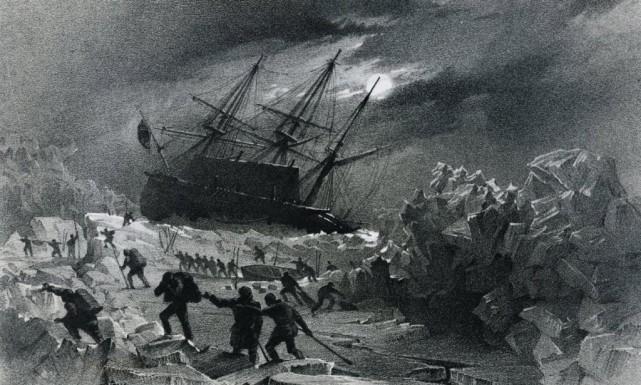 Une représentation de l'équipage du Terror pris dans... (Photo tirée du site de De Agostini Picture Library)
