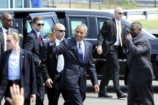 Barack Obama est passé à Philadelphie mardi.... (AP, Joseph Kaczmarek)