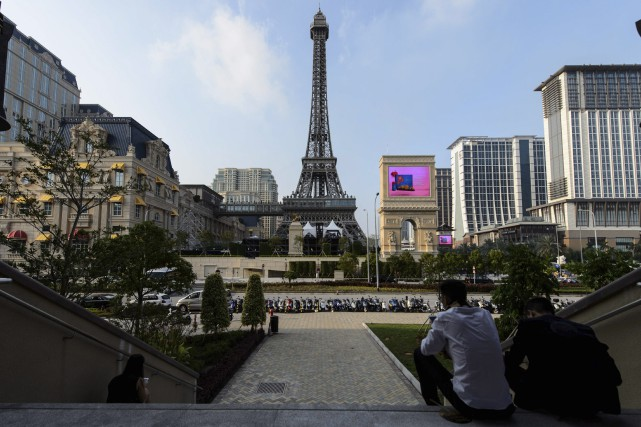 Le casino The Parisian à Macao.... (AFP, Anthony Wallace)