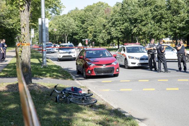 Le cycliste, qui circulait sur l'avenue de la... (Collaboration spéciale Steve Jolicoeur)