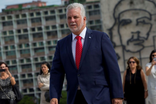 Le premier ministre du Québec, Philippe Couillard, était... (PHOTO Ernesto MASTRASCUSA, AFP)