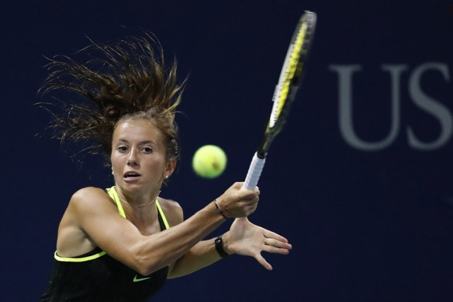 Annika Beck lors du US Open, le 1er... (PHOTO AP)