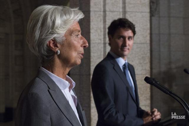 La présidente du FMI, Christine Lagarde, était à... (La Presse canadienne, Adrian Wyld)