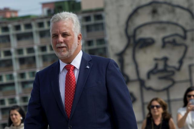 Le premier ministre Philippe Couillard a assisté à... (AFP, Ernesto Mastrascusa)