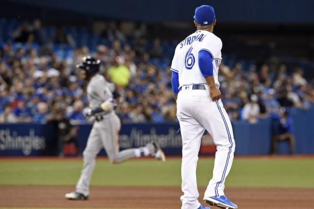 Le lanceur Marcus Stroman doit se contenter de... (Frank Gunn, La Presse canadienne)