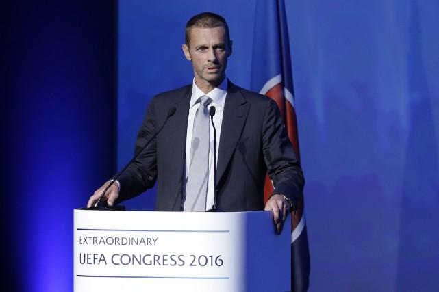 Le nouveau président de l'UEFA, Aleksander Ceferin.... (Photo Thanassis Stavrakis, AP)