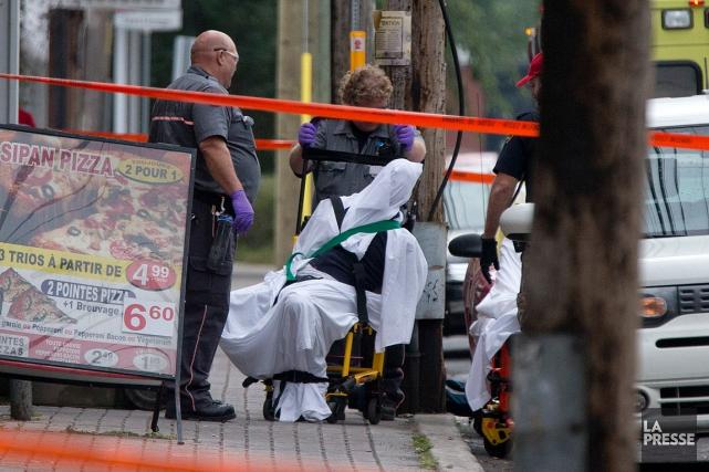 Selon la police, un suspect âgé de 35... (PHOTO DAVID BOILY, LA PRESSE)