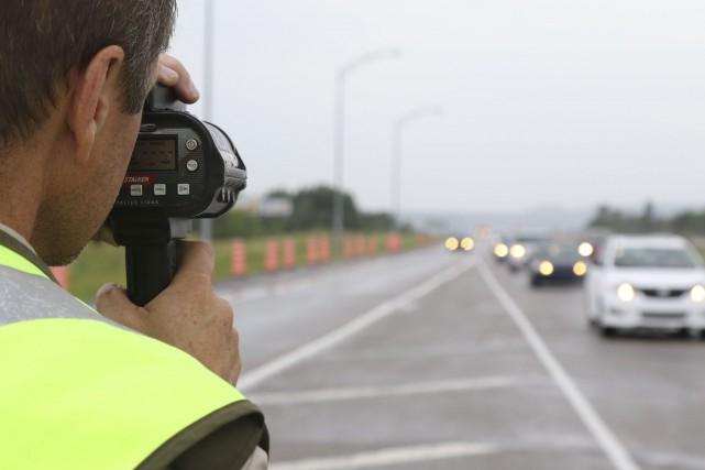 La Sûreté du Québec a intercepté le chauffard... (Patrick Woodbury, LeDroit)