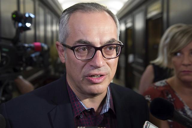 Tony Clement, au caucus conservateur à Halifax.... (La Presse canadienne, Andrew Vaughan)