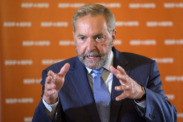 Le chef néo-démocrate sortant Thomas Mulcair.... (Photo Paul Chiasson, La Presse Canadienne)