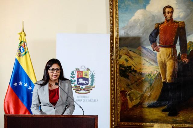 La ministre vénézuélienne des Affaires étrangères Delcy Rodriguez,... (photo FEDERICO PARRA, archives AFP)
