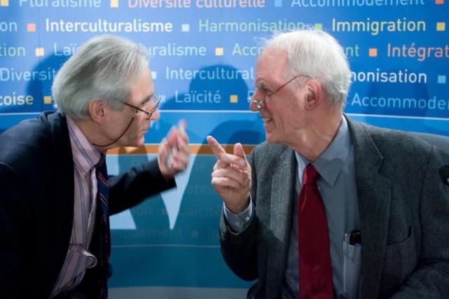 Gérard Bouchard et Charles Taylor.... (PHOTO ANDRÉ PICHETTE, ARCHIVES LA PRESSE)