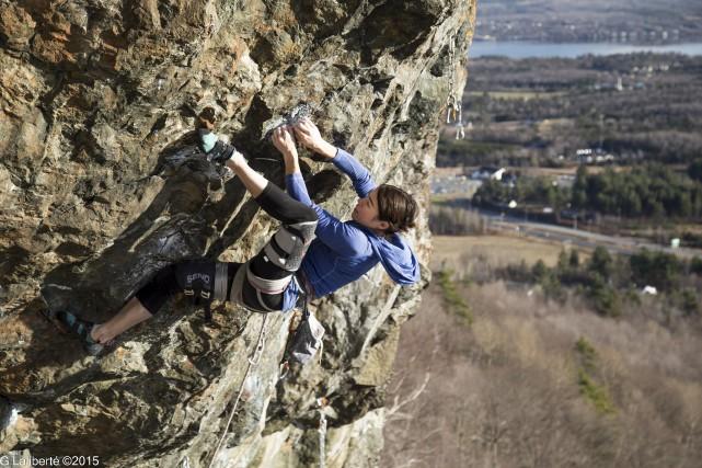 Annie Chouinard: «En escalade, lorsqu'on est dans un... (Photo fournie)