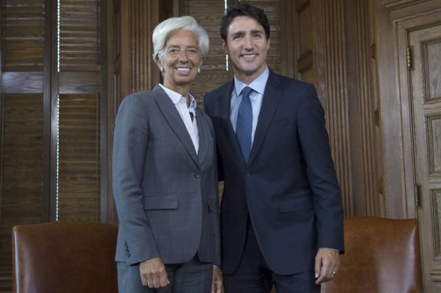 En visite à Ottawa, la directrice générale du... (La Presse canadienne)